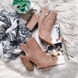 Vince Camuto Western-Inspired Open Toe Bootie